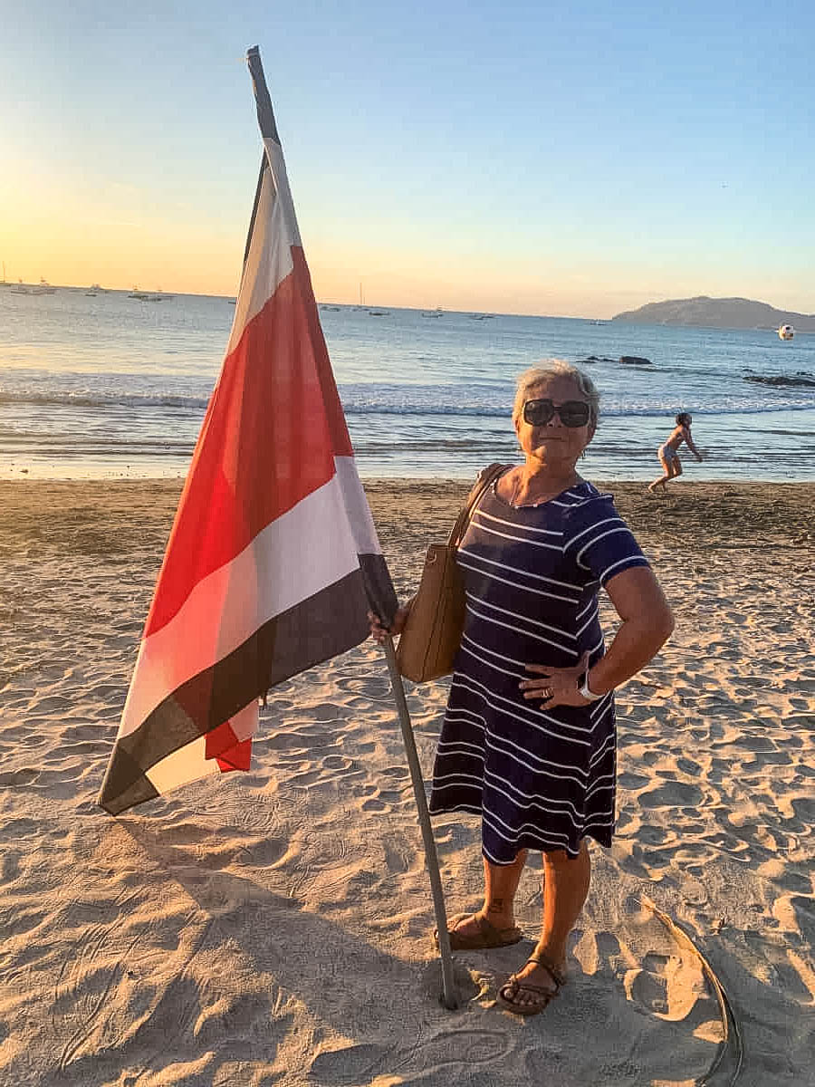Carmen with Costa Rican Flag