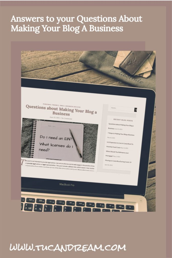 Pin for Making Your Blog a Business
